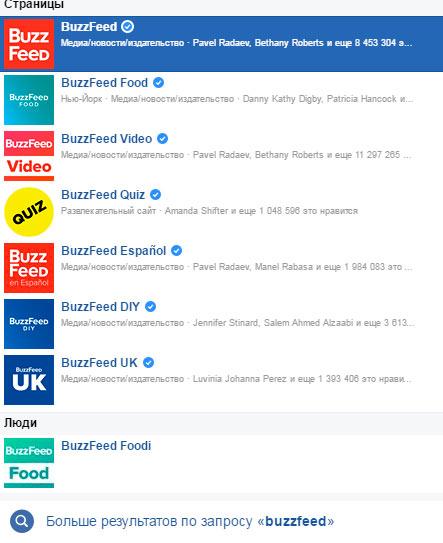 Количество страниц BuzzFeed в Facebook превышает 90