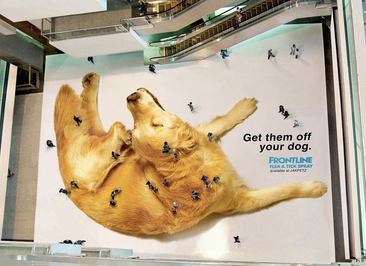 Пример креативной наружной рекламы